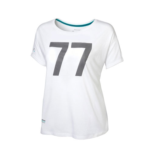 MER Womens 2019 Bottas No. 77 t-shirt (AMBL910 WH) Multi-Colored WXL