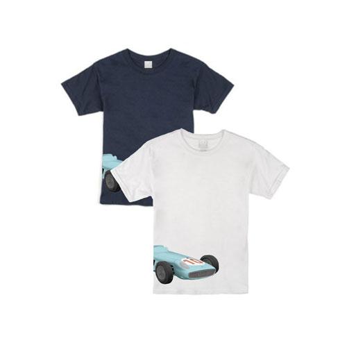 Youth Race Car T-Shirt - WHITE