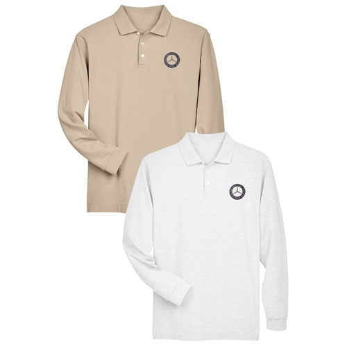 Men's Classic Long-Sleeve Polo - WHITE