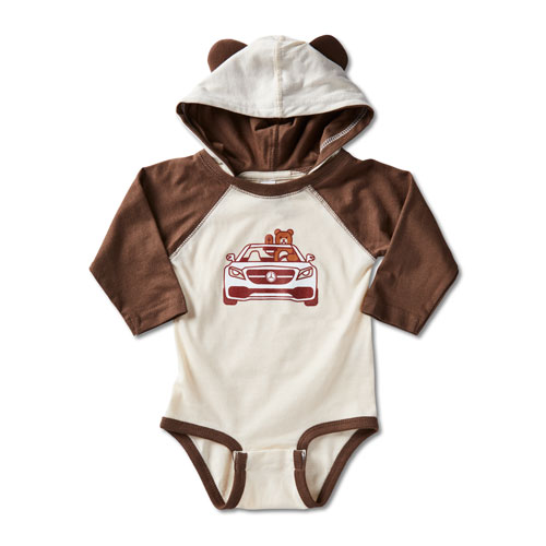 Infant Rabbit Skins Long Sleeve Bodysuit With Ears