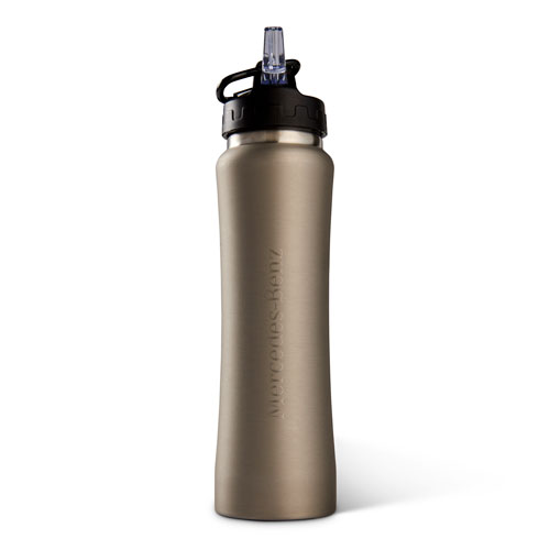 26oz Stainless Sport Bottle with Straw Silver