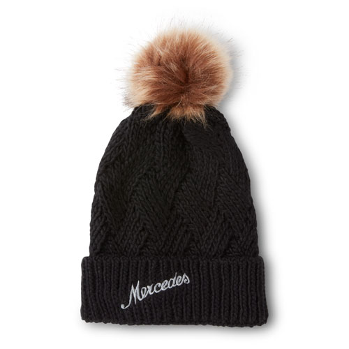 Cross Hatch Beanie with Pom