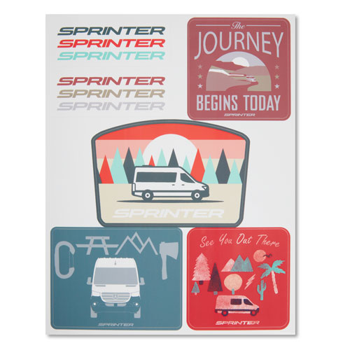 Sprinter 6-Sticker Sheet