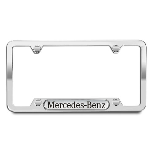 Polished 304 Stainless Steel License Plate