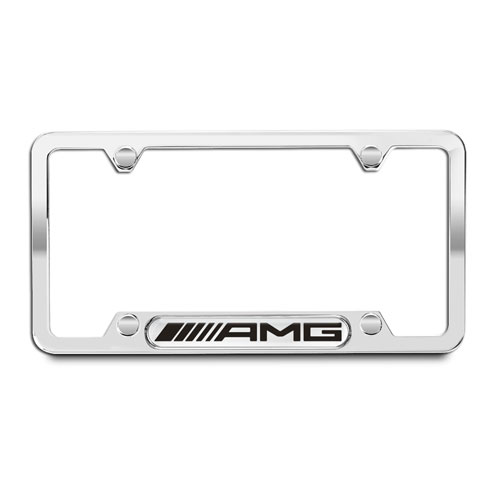 AMG Polished 304 Stainless Steel License Plate