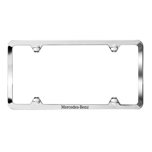 Laser Etched Polished 304 Stainless Steel Slimline License Plate
