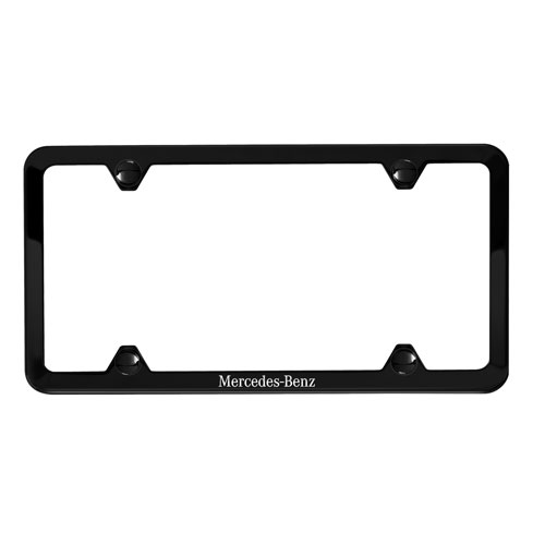 Laser Etched Powder Coated 304 Stainless Steel Slimline License Plate