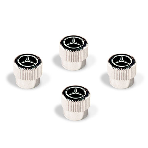 Chrome Valve Stem Caps Set of 4