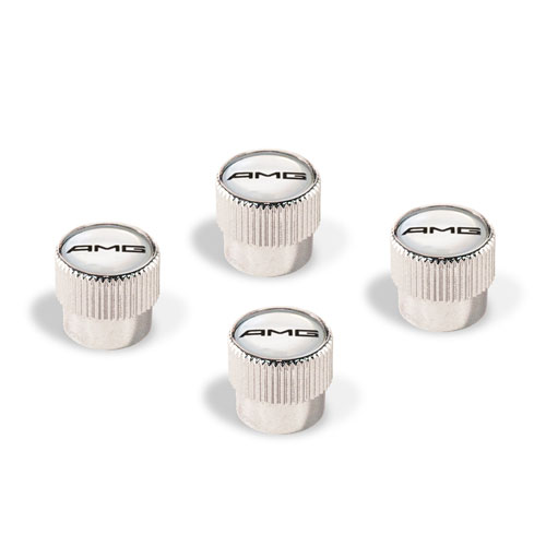 AMG Chrome Valve Stem Caps Set of 4