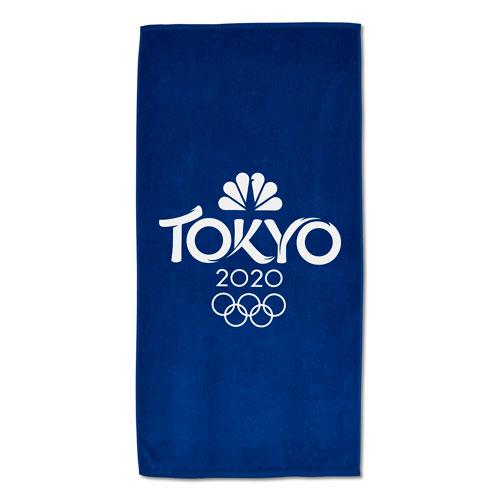 Tokyo 2020 Beach Towel - Royal Blue