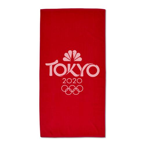 Tokyo 2020 Beach Towel - Red
