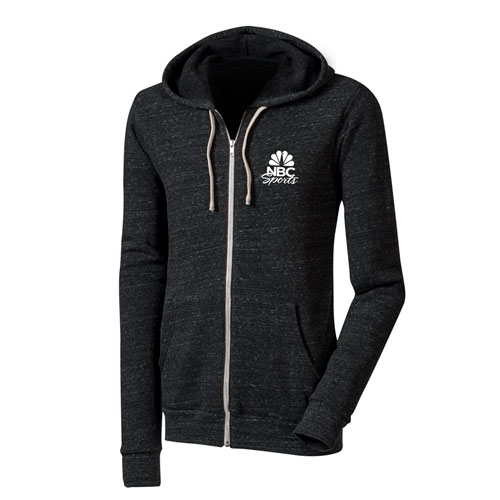 NBCS Full Zip Hoodie Charcoal Black Triblend