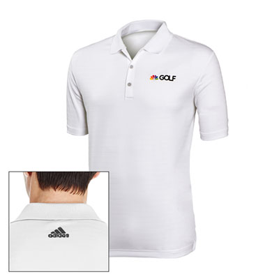 NBC Golf Adidas® Golf Men's Micro-stripe Polo White