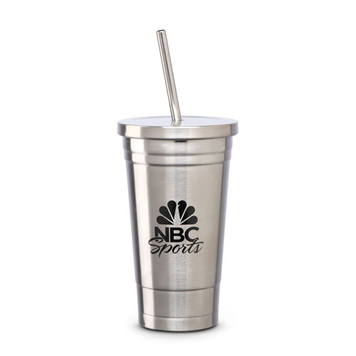 NBC Sports Stainless Tumbler and Straw