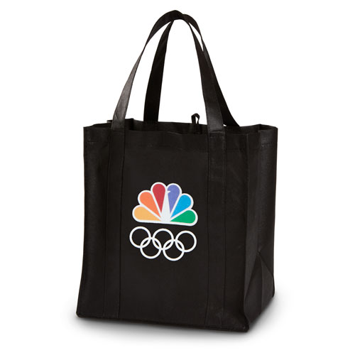 Peacock and Rings Shopper Tote