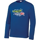 Youth Unisex Blue Performance Long Sleeve Tee