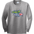 Youth Unisex Grey Long Sleeve Cotton Tee