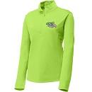 Adult Ladies Green 1/2 Zip Pullover