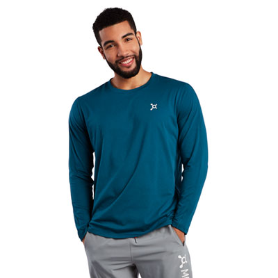 Run Rep Row Mesh Back Long Sleeve Tee
