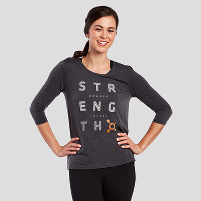 STRENGTH TIE BACK LONG SLEEVE TEE