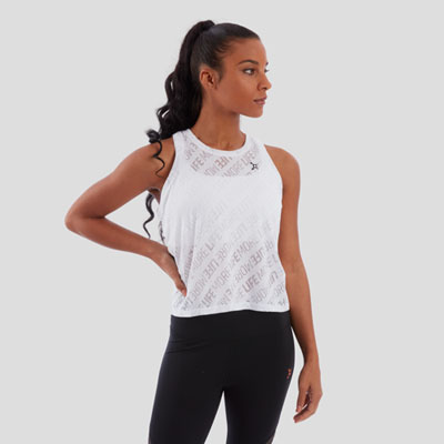 BURN OUT CROP MUSCLE TANK