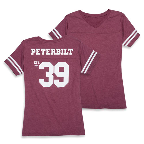 Ladies Fine Jersey Football T-shirt