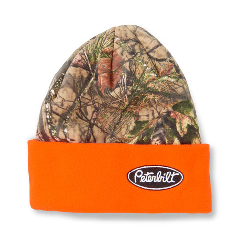 Mossy Oak Fleece Beanie with Blaze Cuff