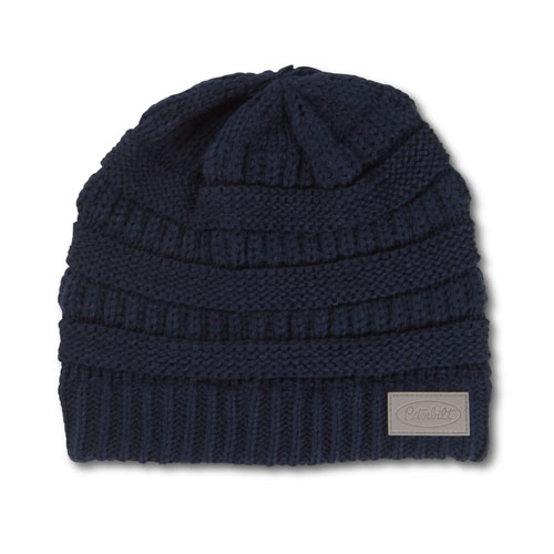 Ladies' Blue Cable Knit Beanie