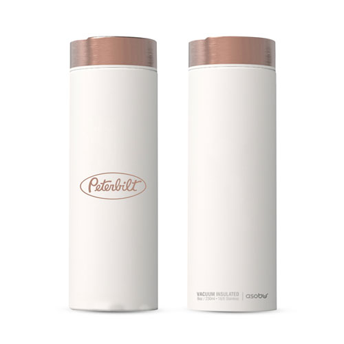 17 oz. Stainless Bottle with Copper Trim