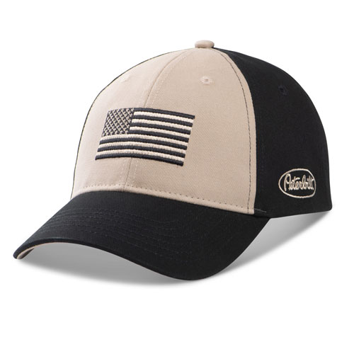 Black & Tan Tonal Flag Structured Hat