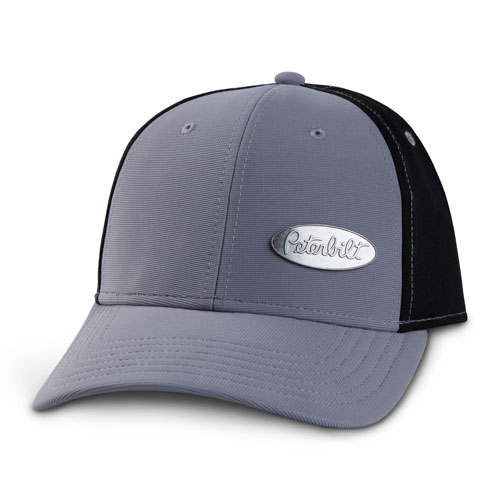 Grey & Black Metal Emblem Structured Hat