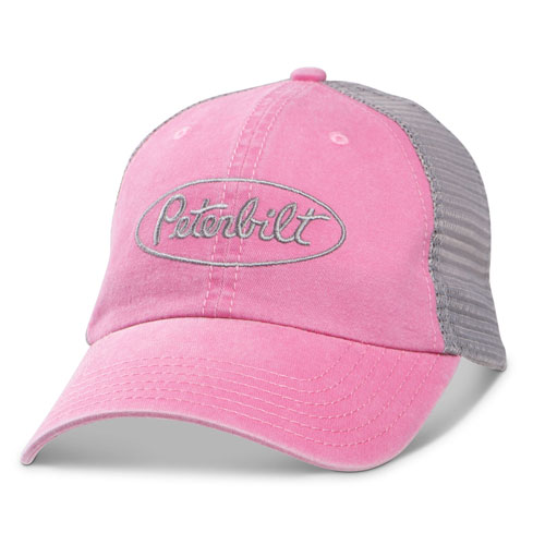 Pink Vintage-Washed Mesh Hat