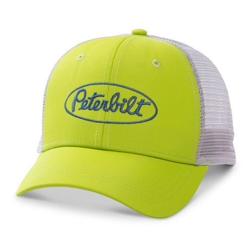Neon green performance mesh-back cap