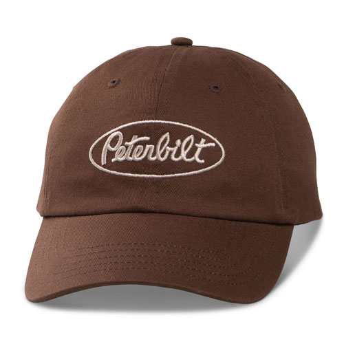 Brown Reverse Logo Unstructured Hat
