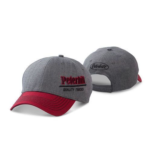 Grey & Red Velocity Pro-Style Structured Hat