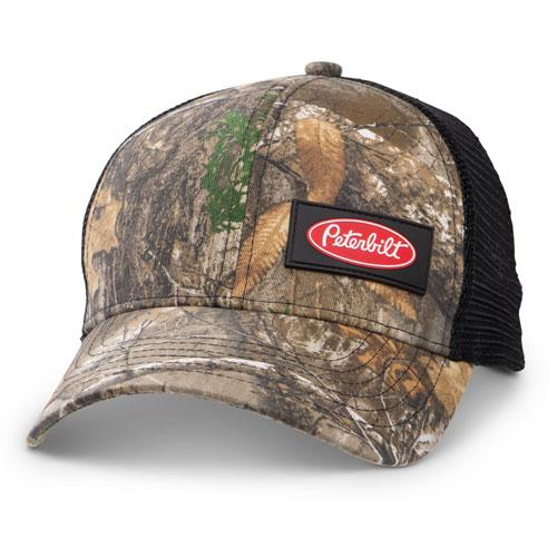 Black Realtree Edge Mini Camo Structured Hat with Rigid Mesh Back