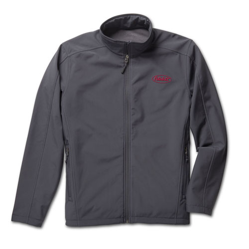 Gray Port Authority® Water-Resistant Softshell Jacket with Fleece Lining