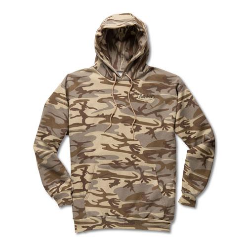 Desert Camo Port & Company® Fleece Hoodie with Red Logo