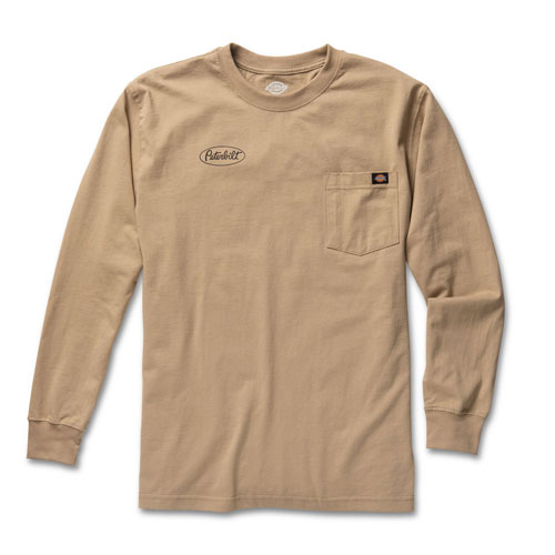 Desert Sand Dickies Heavyweight Work Long Sleeve T-shirt
