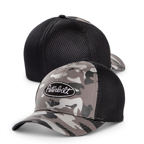 Dark Camo Fitted Mesh Hat