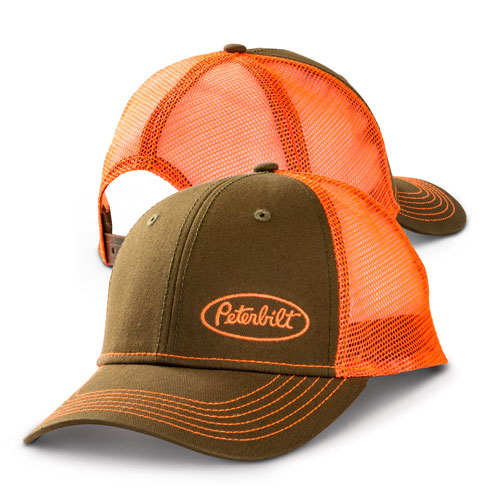 Green and Orange Mesh Hat