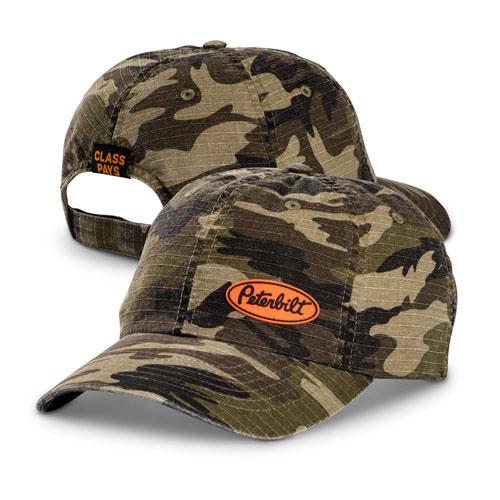 New Peterbilt Trucking Camo Striped Mens Stitch Cap Hat
