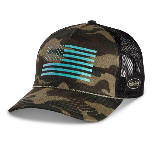 Ladies Camo Flag Mesh Cap