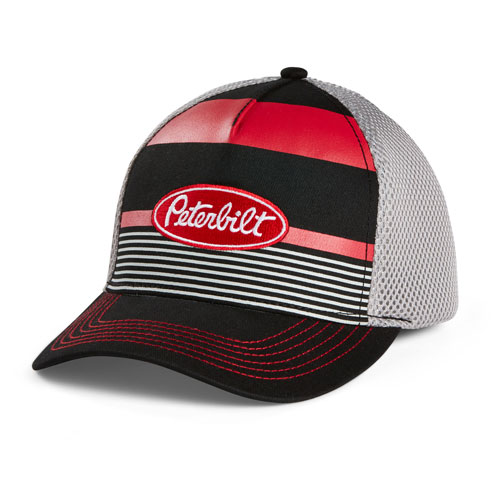Striped Mesh Cap
