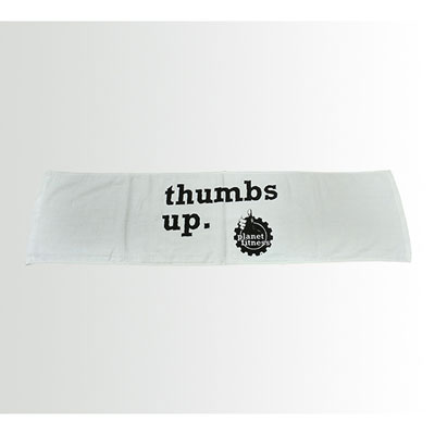 Thumbs Up Fitness Towel Black Planet Fitness Store