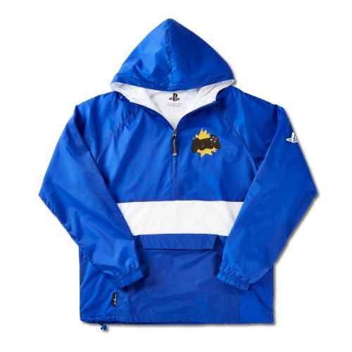 Retro Style Windbreaker with Controller Design