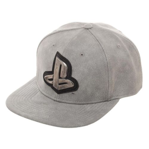 Distressed Gray Snapback Hat
