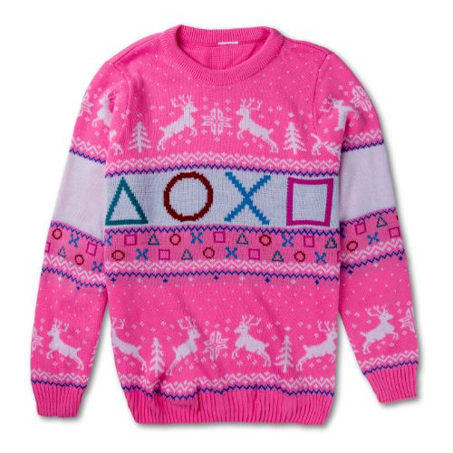 Pink Ugly Holiday Sweater