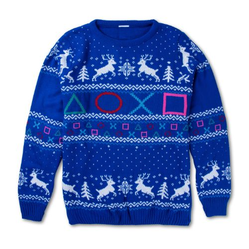 Blue Ugly Holiday Sweater