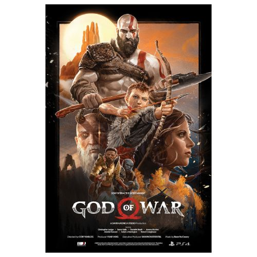 God of War Limited Edition Poster